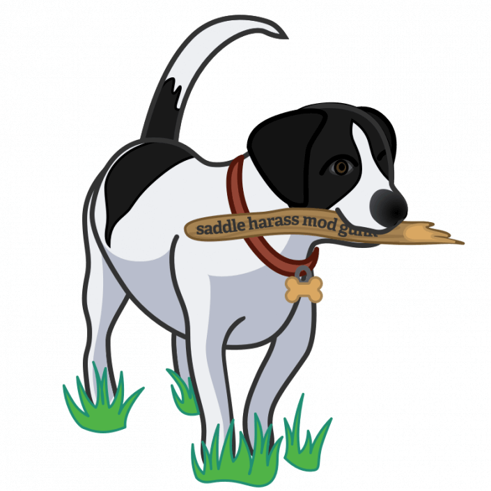 Dog holding stick representing Master Password