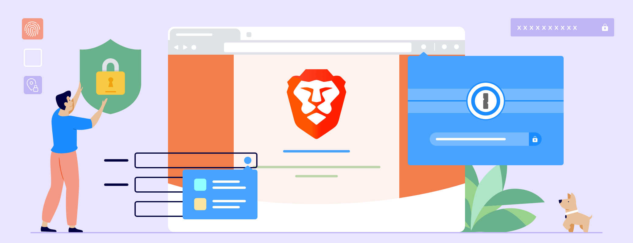 Testing out Brave with 1Password X