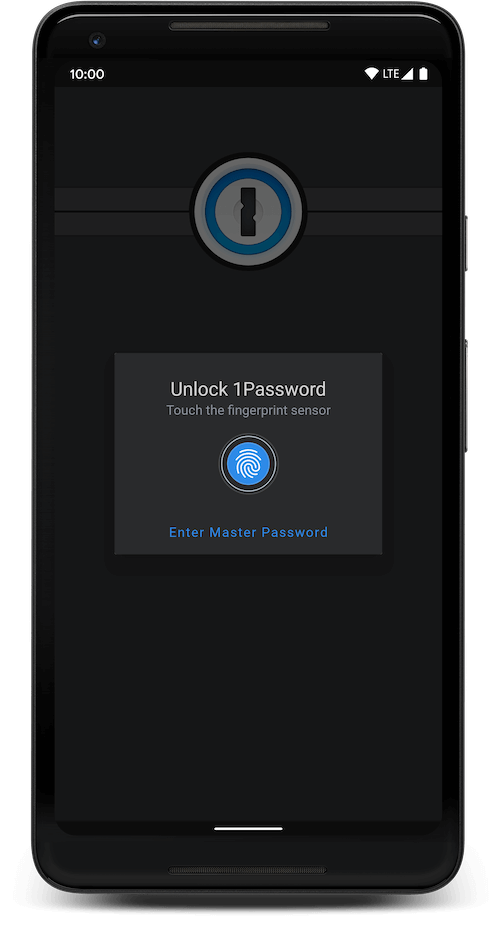 Screenshot showing login screen with blue accents